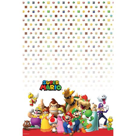 Super Mario Brothers Party Supplies Tablecover - Mario Brothers Decorations
