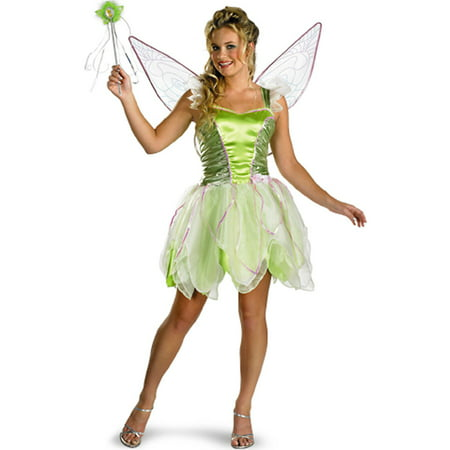 Adult Deluxe Tinker Bell Costume Disguise 6550 (Tinkerbell Costume For Toddler Girl)