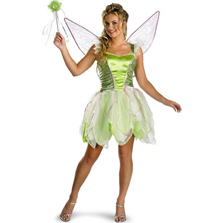 Adult Deluxe Tinker Bell Costume Disguise 6550 - Disney Tinkerbell Adult Costume