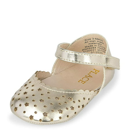 The Childrens Place Girls Ballet Flat, Gold The Childrens Place Girls Ballet Flat, Gold