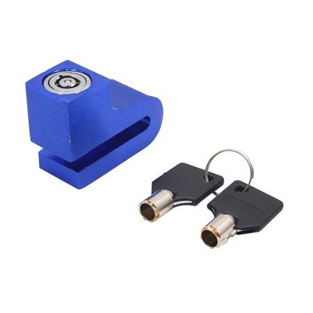Anti Theft Cable - Universal Metal Motorcycle Wheel Disc Brake Anti Theft Security Lock Blue w Key
