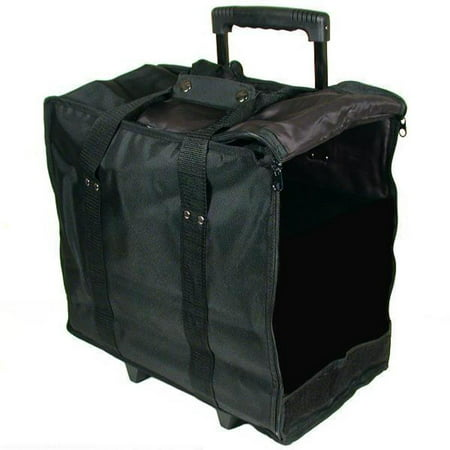 Jewelry Display Black Carrying Case w/ Wheels & (Countertop Jewelry Display Cases)