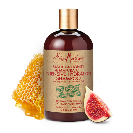 Manuka Honey & Mafura Oil Intensive Hydration Shampoo - Replenishes Dry, Damaged Natural Hair - Sulfate-Free with Natural & Organic Ingredients - Infuses Moisture into Curly, Coily Hair (13