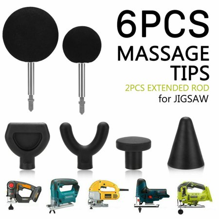 Percussion Kit - Percussion Massage 6pcs Tip & Bit For Jigsaw Massager Adapter Attachment Worx Kit Set