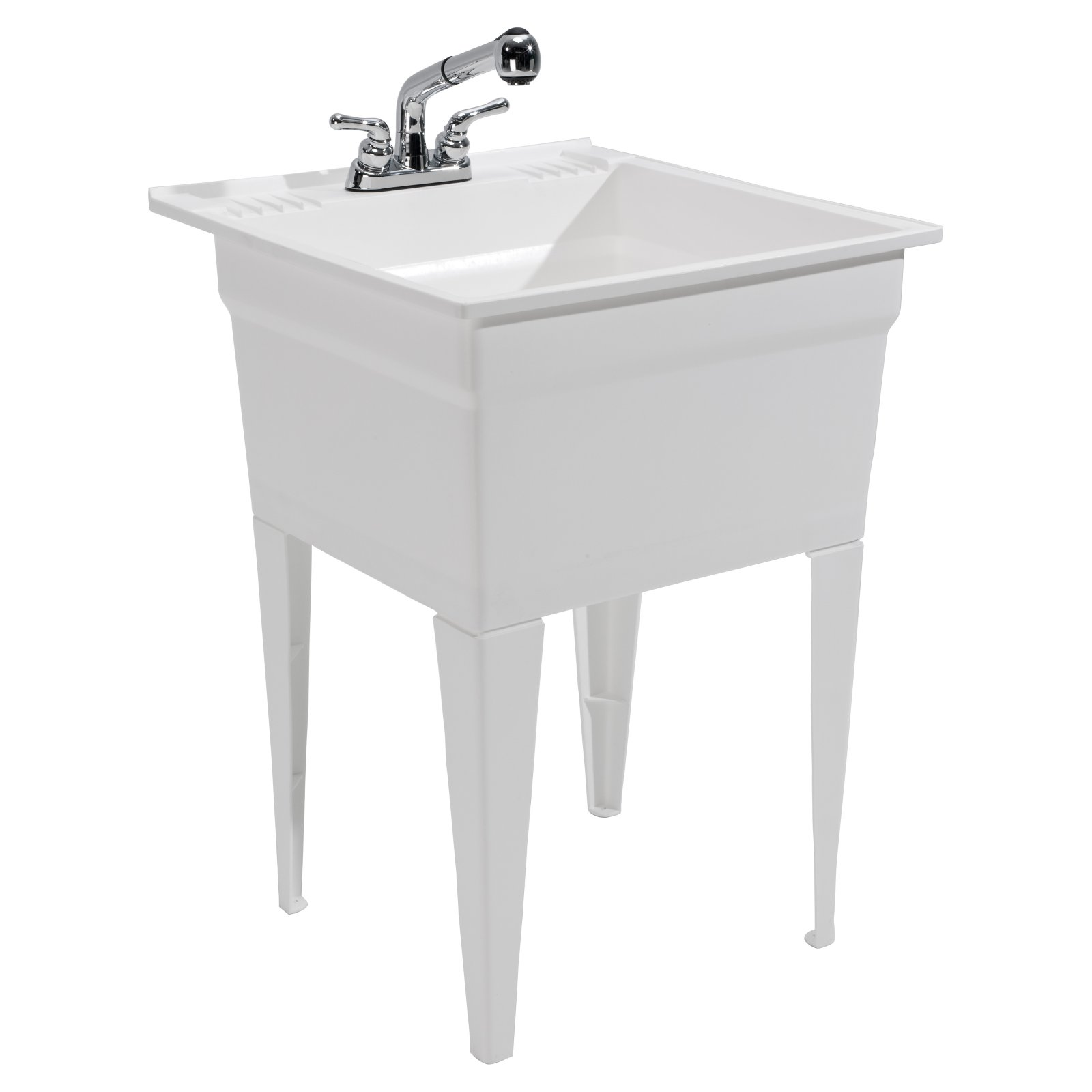 Heavy Duty Utility Sink Kit Free Standing Bathroom Toilet Vanity Square  Cabinet