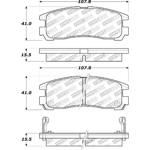 Go Parts Oe Replacement For 1995 1998 Eagle Talon Rear Disc Brake Pad Set For Eagle Talon Base Sl Tsi Walmart Com Walmart Com