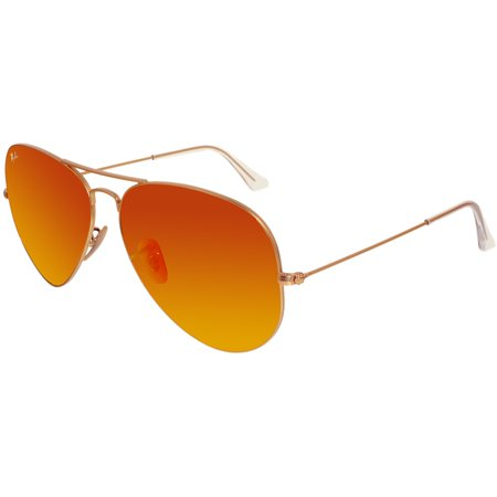 Ray-Ban Men's Mirrored Aviator RB3025-112/69-62 Red Aviator (Ray Bans Men)
