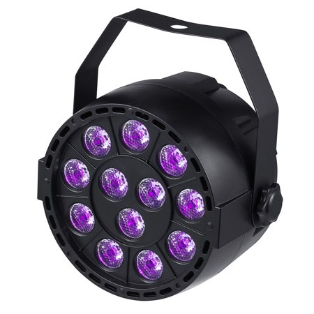LED UV Black Light 12 LEDs PAR Light for Stage Party DJ Lighting with Violet Color for $<!---->