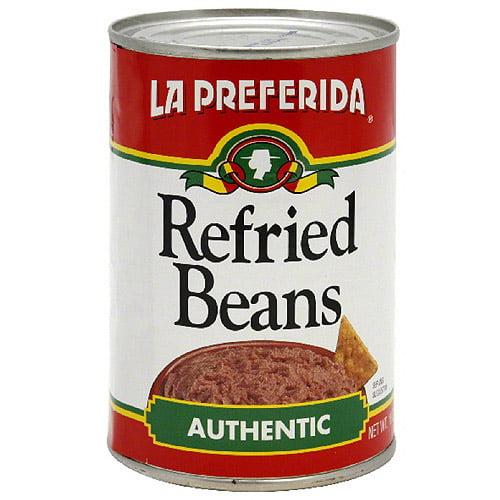 La Preferida Authentic Refried Beans, 16 oz (Pack of 24)