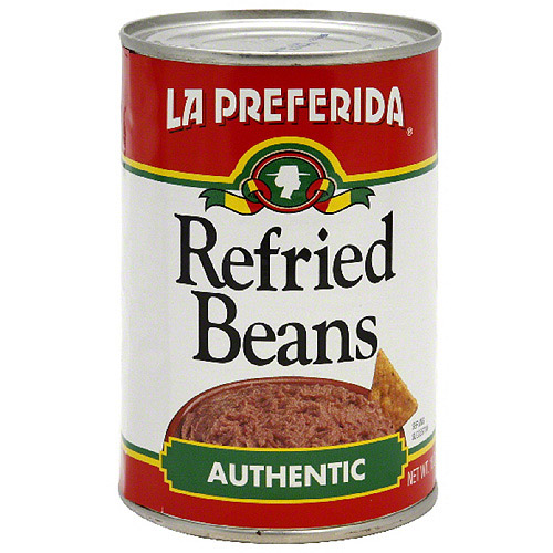 La Preferida Authentic Refried Beans, 16 oz (Pack of 24)