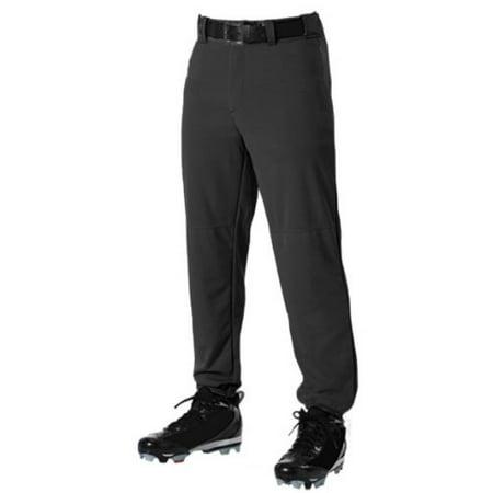 Image of Belted Waist Baseball Pant - Adult Adult/Black/XLG