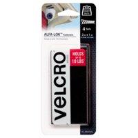 """VELCRO® Brand ALFA-LOK™ 1"""" X 3"""" Strips, 4 Sets 8 Pcs"""