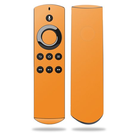 Skin for Amazon Fire TV Remote - Solid Orange| MightySkins Protective, Durable, and Unique Vinyl Decal wrap cover | Easy To Apply, Remove, and Change Styles | Made in the USA