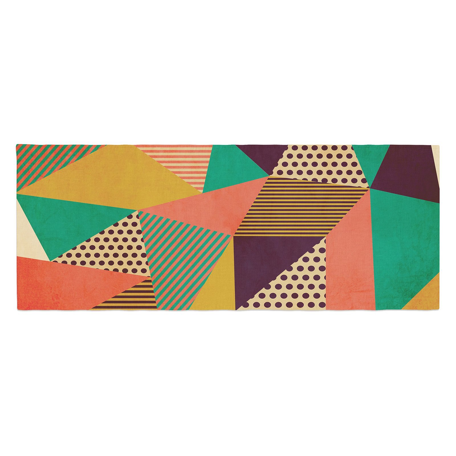 Louise Machado Geometric Love II Bed Runner by Kess InHouse