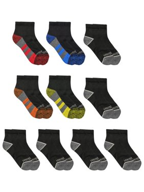 Fruit of the Loom Boys S-L Zone Cushion Ankle Socks 10 Pack