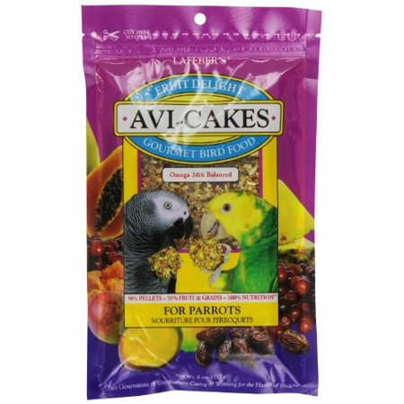 Lafeber Fruit Delight Avi-Cakes Parrot Bird Food, 8 Oz