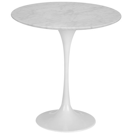 Pastel Table Base - Poly and Bark Daisy 20 inch Marble Side Table in White Base