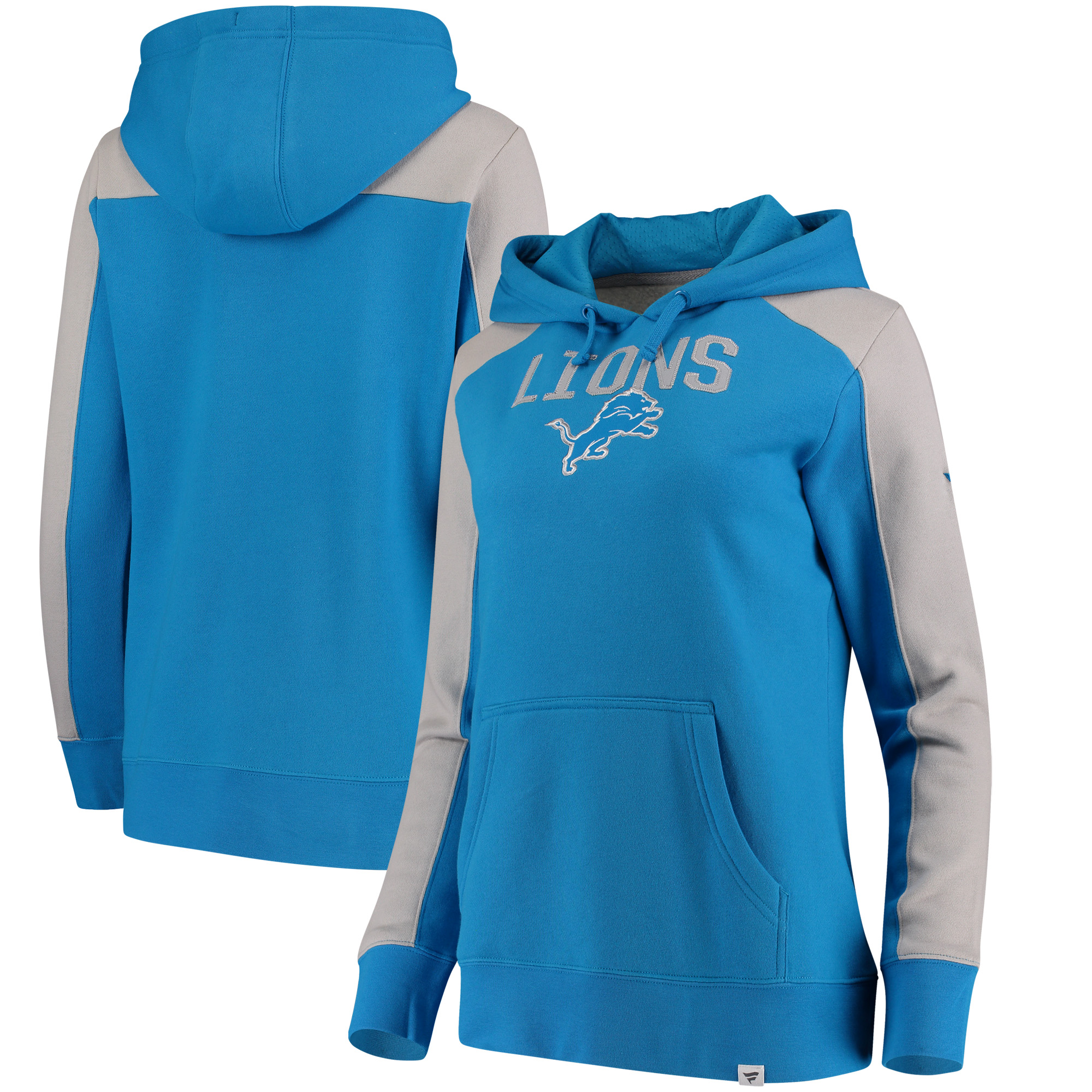 c4eb91004 Detroit Lions NFL Pro Line by Fanatics Branded Women s Wordmark Iconic  Fleece Pullover Hoodie - Blue Heathered Gray - Walmart.com