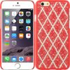 Insten Hard Rubber Coated Case for Apple iPhone 6 / 6s - Red/White Compatible WithApple iPhone 6Package IncludesRubberized Hard Snap-in Case x 1Item DescriptionRubberized Hard Snap-in CaseProtect and personalize your wireless device with this Crystal Rubber CaseThe surface of this case is covered by fashionable colorThis accessory provides protection by preventing scratches and chipsHard plastic was reinforced to the front edges, sides and back of the wireless device to endure the life of the caseThis wireless device Shield Protector has openings precisely made for the top and side buttons, charger port/dock connector, headset jack and speaker to allow full access to all the functions the phone offersWhat's more, the pattern on the surface looks greatOur premium crystal rubber cases will help keep your device safeApple, iPhone®, iPad®, iPod® are registered trademarks of Apple, Inc. Apple does not endorse use of these products.* Special Return Policy applies, please check here for detail.Product names are trademark of listed manufacturer or other owners, and are not trademarks of eForCity Corp. The manufacturer does not necessarily endorse use of these products.