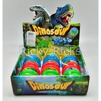 12 Light Up Dinosaur Yo-Yo's T-Rex Party Bag Fillers Favors Flashing Toys Dinosaurio LED