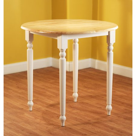 Counter Height Dining Table With Turned Legs White And