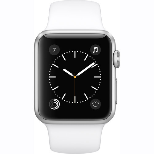 Refurbished Watch Series 1 38mm Apple Smartwatch Silver Aluminum Case White Sport Band MNNG2LL/A