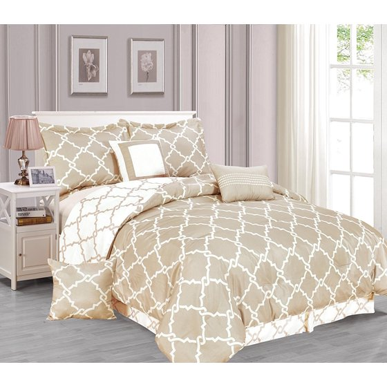 Galaxy 7 Piece Comforter Set Reversible Soft Oversized