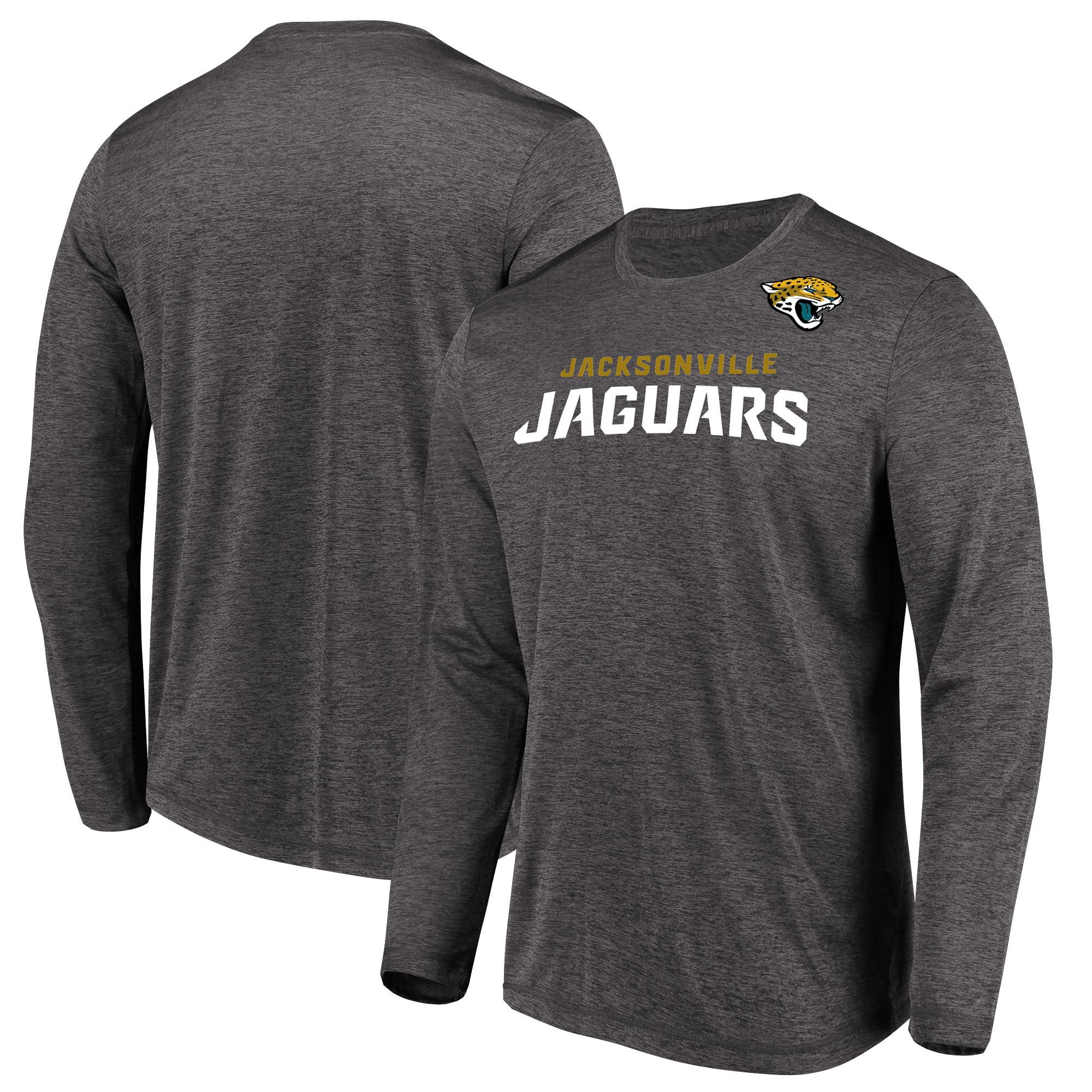 Jacksonville Jaguars Majestic Touchback Long Sleeve T-Shirt - Heathered Charcoal
