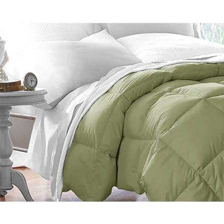 Microfiber Down Alternative Comforter (Full/Queen) Sage