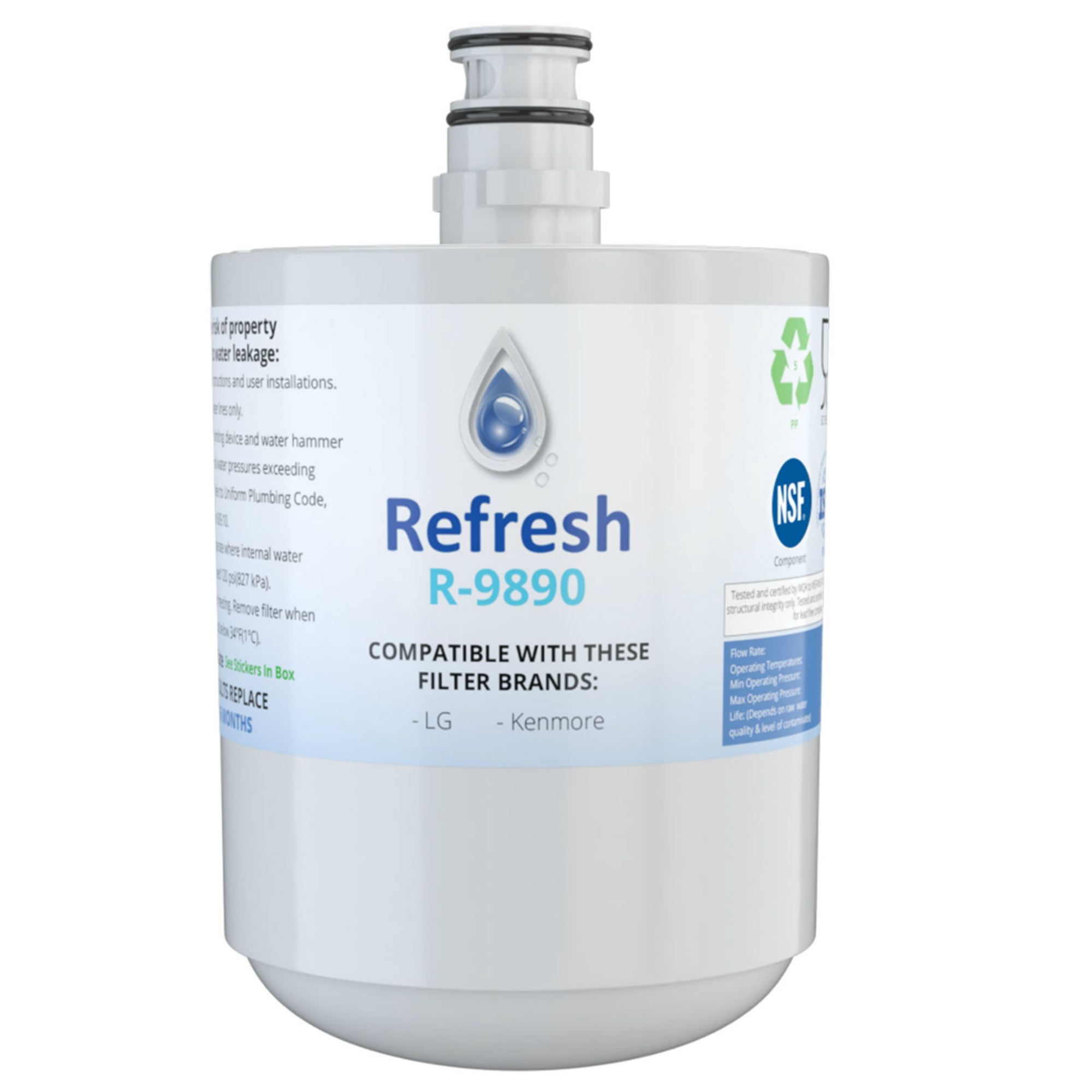 Replacement For LG LFX25973D Refrigerator Water Filter - by Refresh