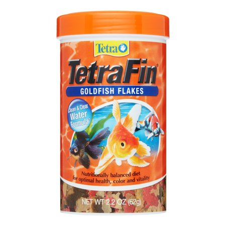 Tetra tetrafin goldfish flakes food with procare 2 2 oz for Fish food walmart