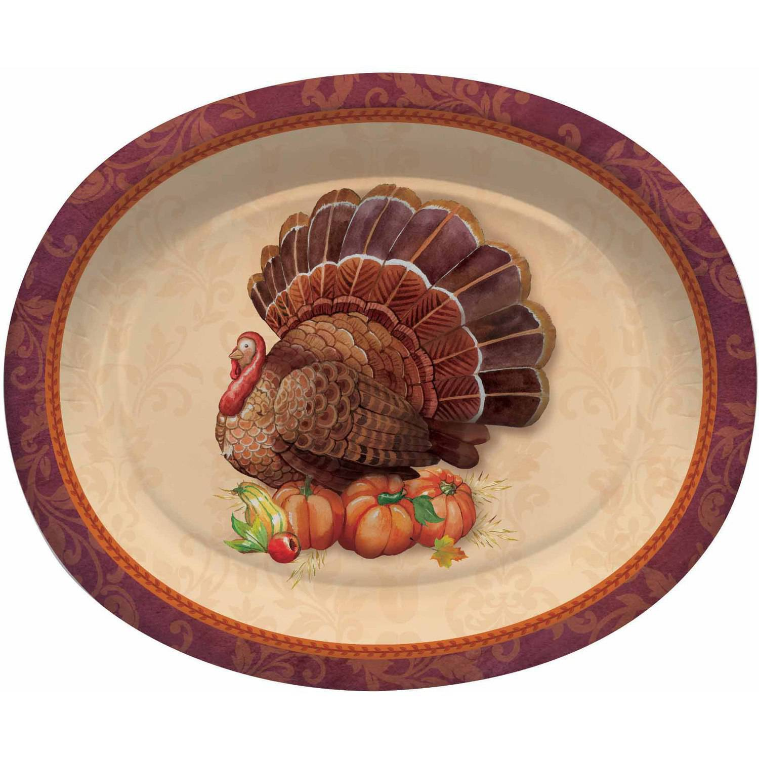 Thanksgiving Elegance Oval Platters, 8pk