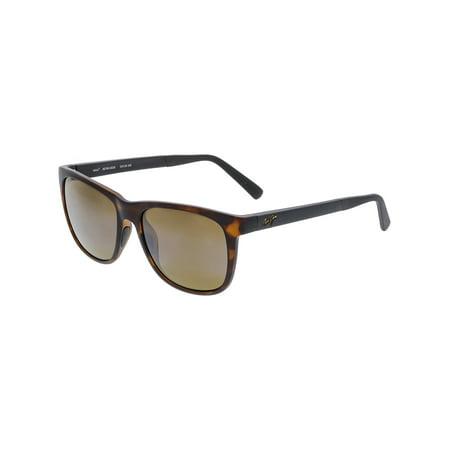 b7488a2380c2 Maui Jim - Maui Jim Polarized Tail Slide H740-10CM Brown Square Sunglasses  - Walmart.com