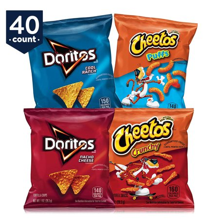 Frito-Lay Doritos & Cheetos Mix Variety Pack, 1 oz 40 Count ()