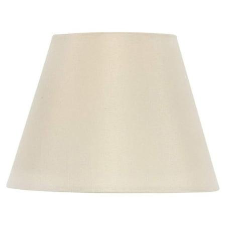 Drum Style Chandelier Lamp Shade 6 Inch Eggshell Silk Clips Onto Bulb Birch Drum Shell