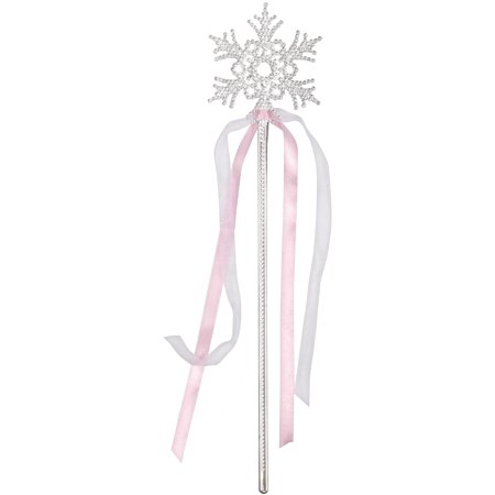 Star Power Snowflake Princess Wand, Silver Pink, One Size (14
