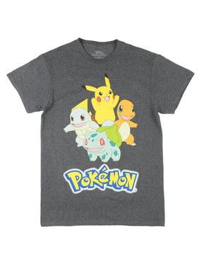 be8c6223 Product Image Pokemon Starter Short Sleeve T-Shirt Pikachu Tee Top Cartoon  Shirt Mens Charcoal