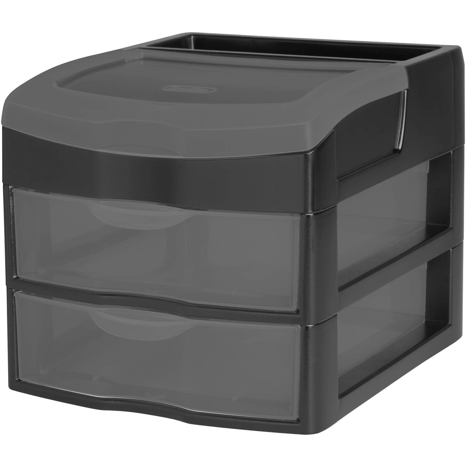 Sterilite 2-Drawer Organizer, Black Tint