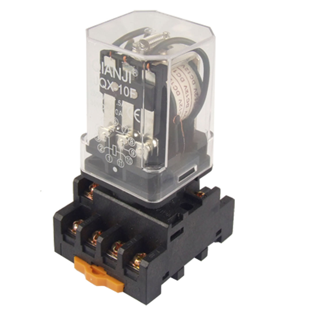 Dc 12v Coil Electromagnetic Relay 11 Pin 3pdt 3 No Nc Jqx 10f W Socket Pickup Voltage