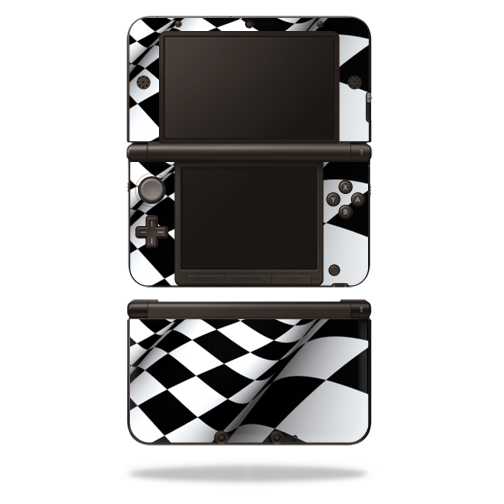 MightySkins Protective Vinyl Skin Decal Cover for Nintendo 3DS XL Original (2012-2014 Models) Sticker Wrap Skins Checkered Flag