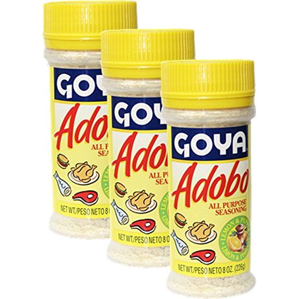 Goya Adobo Seasoning With Lemon And Pepper 8 Oz Pack Of 3 Walmart Com Walmart Com
