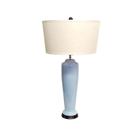 (Amita Trading Savannah Light Blue Porcelain Lamp with Shade)