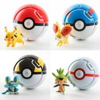 1PC Bounce Pokemon Pokeball Cosplay Pop-up Elf Go Fighting Poke Ball Toy Gift