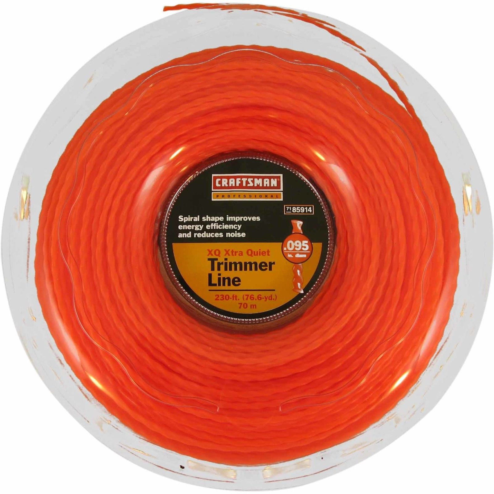 Craftsman String Trimmer Line Replacement Professional XQ Spiral Design 230 ft. Spool Lawn Garden Tool Accessory 986095D0.8-6