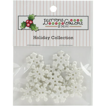 Themed Craft Buttons (Button Theme Pack-Snowflakes)