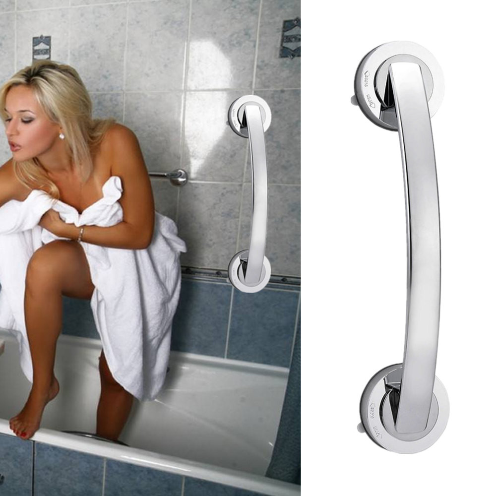 Tuscom Bath Safety Handle Suction Cup Handrail Grab Bathroom Grip Tub Shower Bar Rail