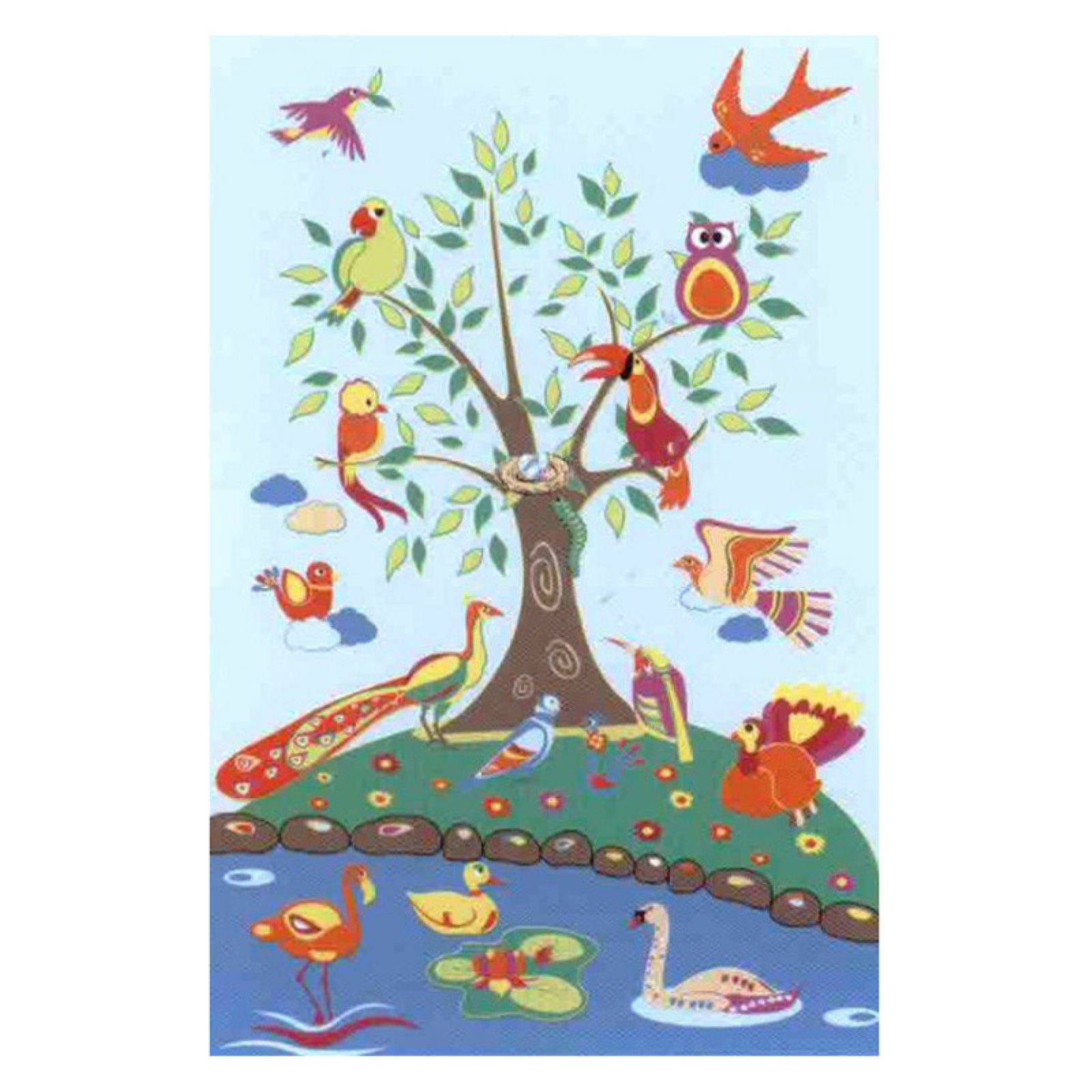 "Fun Rugs Birds of Paradise  39"" x 58"" Rug"