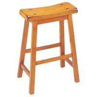 """Hawthorne Collection 24"""" Counter Stool in Oak (Set of 2)"""