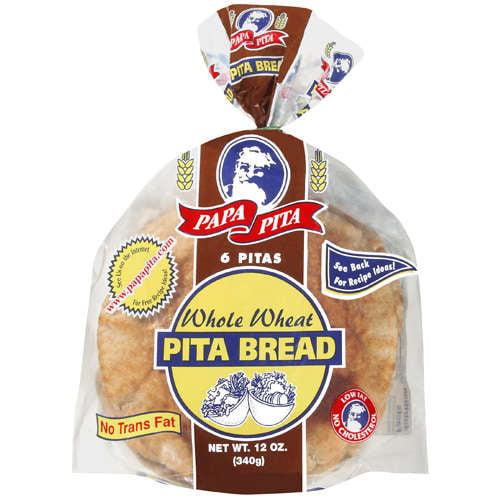 Papa Pita 6 Whole Wheat Pita Bread, 12 oz