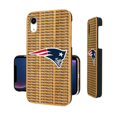 New England Patriots iPhone Bamboo Text Backdrop Design